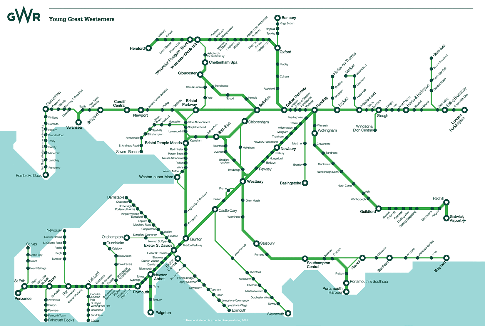 First Great Western Map Route Map | GWR First Great Western Map